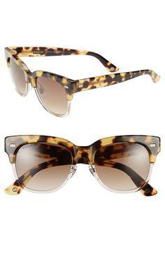 c130685dabde Gucci 52mm Retro Sunglasses available at  Nordstrom Gold Aviator Sunglasses