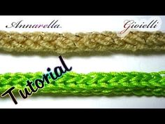 Tutorial tubolare tricotin all'uncinetto | How to crochet an i cord