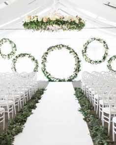30 Greenery Wedding Color Ideas You'll Love white and greenery circles wedding ceremony backdrop Circle Wedding Ceremonies, Wedding Ceremony Backdrop, Fantasy Wedding, Dream Wedding, Wedding Bride, Wedding Rustic, Summer Wedding, Wedding Arch Greenery, Wedding Arches