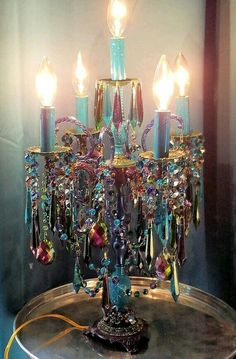 Boho Home Decor Reserved for Rose - Jeweled Bohemian Candelabra Gypsy Girandole Antique Bohemian Candelabra.Boho Home Decor Reserved for Rose - Jeweled Bohemian Candelabra Gypsy Girandole Antique Bohemian Candelabra Gypsy Decor, Bohemian Decor, Bohemian Style, Boho Gypsy, Bohemian Crafts, Bohemian Clothing, Boho Hippie, Hippie Style, Home Decor Accessories