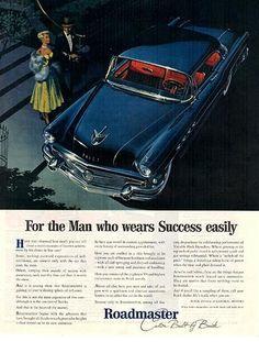 1956 Original Print Ad - Roadmaster Custom Built by Buick Automobile Advertisement