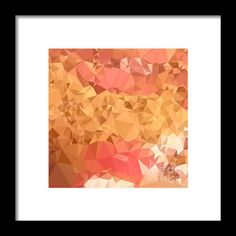 Wild Orchid Abstract Low Polygon Background Framed Print By Aloysius Patrimonio.Low polygon style illustration of a wild orchid abstract geometric background. #LowPolygon #WildOrchidAbstract