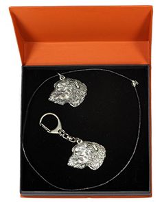 NEW, Irish Wolfhound, dog keyring and necklace in casket, PRESTIGE set, limited edition, ArtDog *** Check out the image by visiting the link. http://www.amazon.com/gp/product/B011CAR2HA/?tag=jewelry3638-20&pij=290916214546