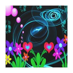 Decorate your walls with canvas prints from Zazzle! Choose from thousands of great wrapped canvas to beautify your home or office. How To Wrap Flowers, Abstract Flowers, Canvas Art Prints, Wrapped Canvas, Poster, Decor, Decoration, Decorating, Billboard
