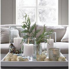 211150 - Bubbled Silver Glass Portavelas Votivas