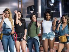 Star Tracks: Friday, March 25, 2016 | HARD AT WORK  | Fifth Harmony – Dinah-Jane Hansen, Lauren Jauregui, Camila Cabello, Normani Hamilton and Ally Brooke – wave to fans after a performance on Jimmy Kimmel Live! in L.A. on Thursday.