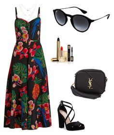 """""""Untitled #3"""" by saporovska on Polyvore featuring Ray-Ban, Valentino, Nina and Yves Saint Laurent"""