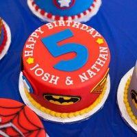 Super Hero Birthday Cake!