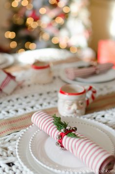 Christmas table setting idea
