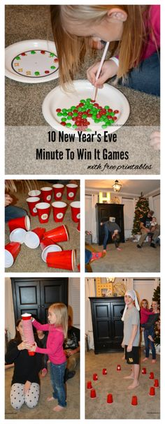 """10 New Years Eve """"Minute to Win It"""" games! Via The Idea Room"""