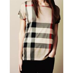 Burberry check print top Classic check print T.Shirt in beige Burberry Tops Tees - Short Sleeve