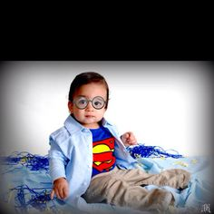 One year birthday superman theme
