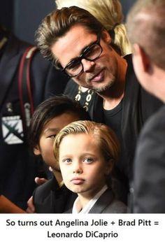 Angelina Jolie + Brad Pitt = Leonardo DiCaprio