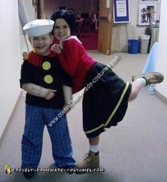 Coolest+Popeye+and+Olive+Oyl+Child+Couple+Costume+Idea