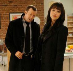 Blue Bloods -Detective Danny Reagan (Donnie Walhberg) and Detective Maria Baez (Marisa Ramirez)