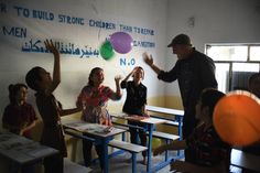 Balloons for the students at our school in Iraq! #RestoreIraq