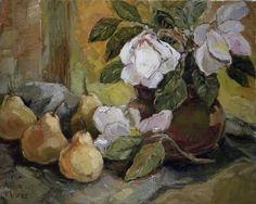 Aviva Maree Art South African Wine, South African Artists, Flower Vases, Flower Art, Art Flowers, Weird Pictures, Cool Artwork, Still Life, Magnolias