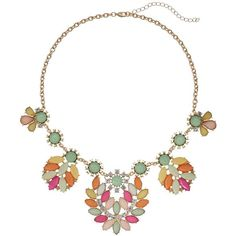 Marquise Cabochon Bib Necklace ($21) ❤ liked on Polyvore featuring jewelry, necklaces, fake jewelry, cabochon jewelry, imitation jewellery, bib necklace and imitation jewelry