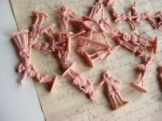 """""""Army men"""" for girls. Princesses, ballerinas  dolls. I would end up spray painting..."""