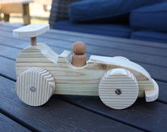 Wood Car. Wood Toy. Handmade Toy Wood Car.