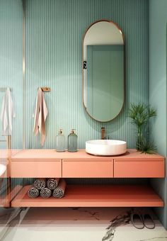 Bricolage Interiores Art Deco, Interiores Design, Art Deco Bathroom, Modern Bathroom, Master Bathroom, Paris Bathroom, Bathroom Ideas, Kmart Bathroom, Colorful Bathroom