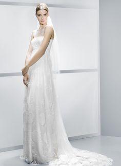vestido de noiva jesus peiro com decote cai cai transparente para gravidas - Noivas grávidas por Jesus Peiró 2014 #casarcomgosto