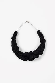 Folded grosgrain necklace