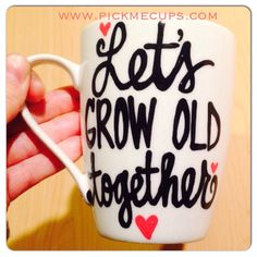 A personal favorite from my Etsy shop https://www.etsy.com/listing/238157070/lets-grow-old-together-wedding