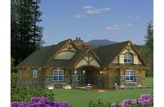 This is an 1,858 square feet craftsman style 3 bedroom, 3 bath with 2 garage and was designed by Kieran Liebl of Royal Oaks Design. This is one of 2 house plans James and I are considering if we ever build a home. Click for floor plan.