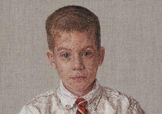 Cayce Zavaglia  es una artista americana que en lugar de pintar sus retratos los borda. Un trabajo magnífico de paciencia y realsim...