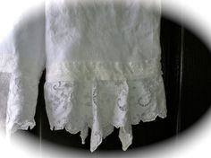 Fancy Fairy Pantaloons Boho Bloomer White Linen With Scalloped Vintage Lace Unique Clothing Gypsy Cowgirl