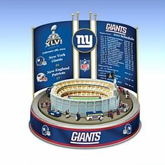NFL and NCAA Music Boxes -  NFL New York Giants Super Bowl XLVI Championship Carousel