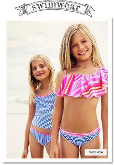 Mim-pi summer fashion for girls SS 15 Bikinis For Teens, Kids Swimwear, Young Models, Child Models, Preteen Fashion, Kids Fashion, Tween Girls, Cute Girls, Yuri