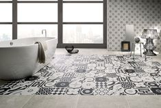 Tiles: Collection Cementine B&W by Ceramica Fioranese