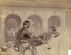 Nautch(naach) girls, Hyderabad is part of Vintage india Photograph of nautch dancers at Hyderabad in Andhra Pradesh, taken by Hooper and Western in the from the Archaeological Survey - Vintage India, Om Namah Shivaya, Jaisalmer, Udaipur, Hyderabad, Archaeological Survey Of India, Colonial India, History Of India, Varanasi
