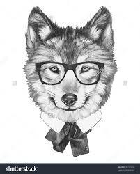 Billedresultat for drawing wolf