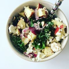 Kale, Apple and Feta Salad