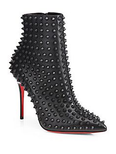 Christian Louboutin - Snakilta Spiked Leather Ankle Boots