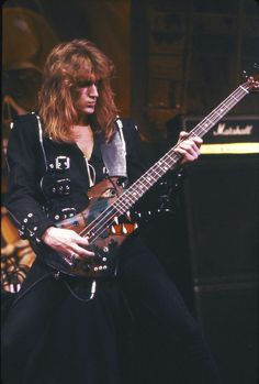 Dave Ellefson of Megadeth ca. 1989