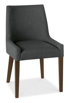 Luxury Dining Ella Walnut Scoop Back Chair