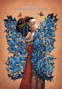 #Cuentos infantiles. Este álbum narra la desventura de una joven geisha, Madama Butterfly, y su amor por Pinkerton, un joven oficial de la Armada estadounidense deseoso de hacer fortuna en Japón. Tras su llegada a Japón, Pinkerton se siente fascinado por un país lleno de oportunidades del cual lo desconoce todo: su modo de vida, sus tradiciones y sus convenciones sociales.