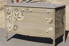 decorative dresser - painted