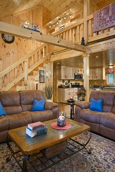 Log Home Decorating pin tip 5287036589 - Into Awe Inpsiring log decor inspirations to plan a truly memorable room. Log Cabin Homes, Log Cabins, Rustic Cabins, Rustic Barn, Log Home Interiors, Log Home Decorating, Decorating Ideas, Log Home Designs, Master Bedroom Interior