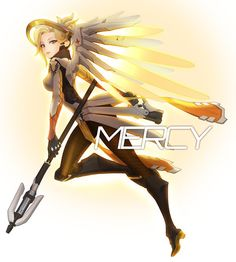 Mercy - More at https://pinterest.com/supergirlsart/ #overwatch #blizzard #game #fanart