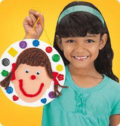 kids craft make a face collage