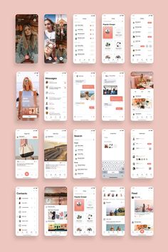 ChatsApp Social Networking App UI Kit — UI Place – Make Mobile Applications Interaktives Design, App Ui Design, Android App Design, Android Ui, Social Networking Apps, Social Networks, Kit Ui, Ui Ux Designer, Jane Foster