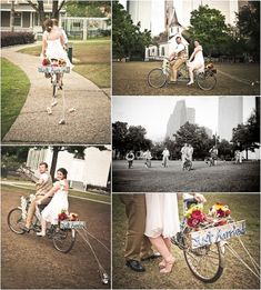 cute idea: casual wedding with bicycles