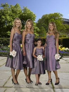 A-line Sweetheart  Hand-Made Flower Sleeveless Tea-length Taffeta Bridesmaid Dress / Cocktail Dress / Homecoming Dress #MyeSoul #dress