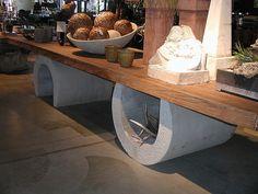 Concrete table base