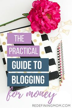 The Ultimate Beginners Guide to Blogging: How to Get Started Blogging for Money explains how to start a blog for beginners by explaining the 4 stages of blogging and how to build your audience so that you can make money from your blog. This is a comprehensive step-by-step guide for setting up, growing, and monetizing your blog!